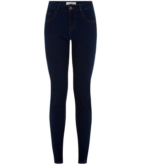Teens Navy Skinny Jeans  | New Look