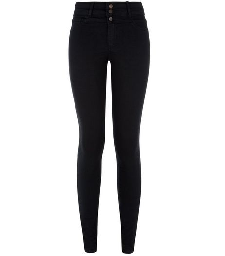 Black High Waisted Super Skinny Jeans | New Look