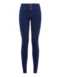 Dark Blue High Waist Super Skinny Jeans | New Look