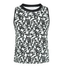 First & I Green Bird Print Sleeveless Top  | New Look