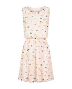 Fallen Star Pink Butterfly Print Sleeveless Dress  | New Look