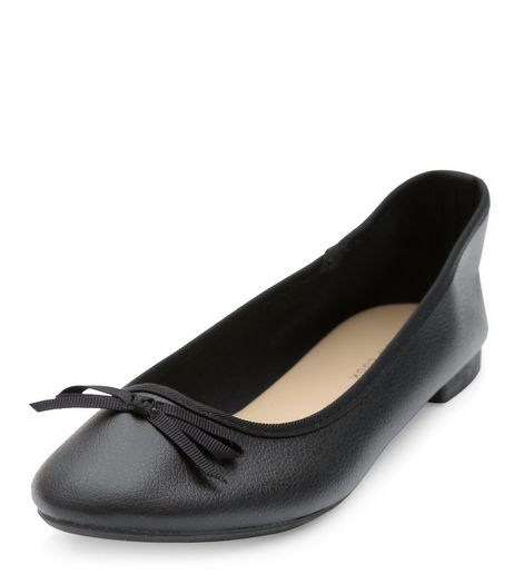 Black Ballet Pumps  | New Look