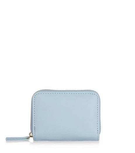 Pale Blue Zip Around Card Holder  | New Look