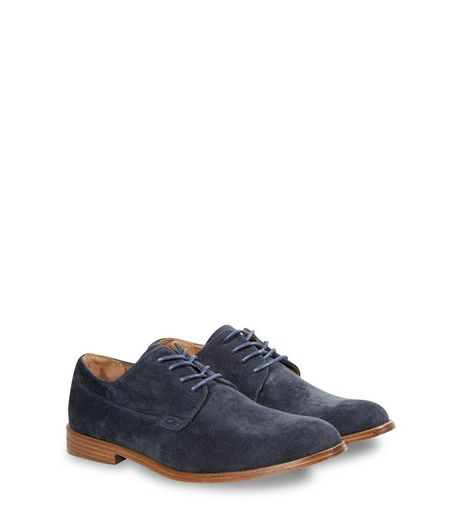 Navy Lace Up Shoes  | New Look