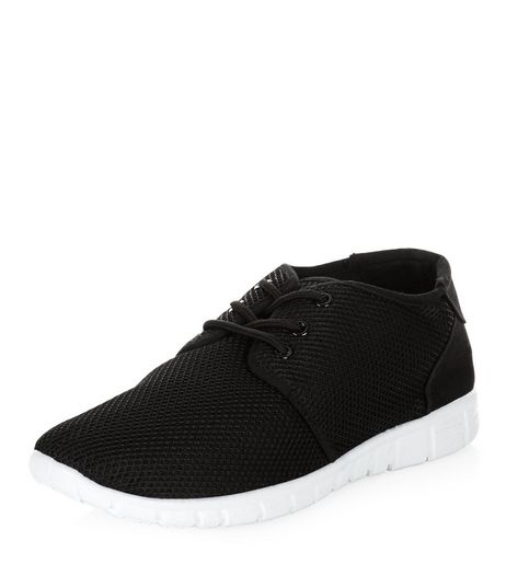 Black Mesh Trainers  | New Look