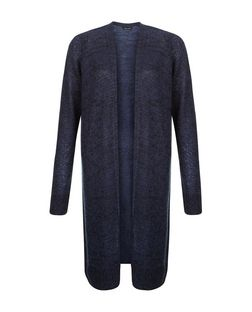Blue Longline Cardigan  | New Look