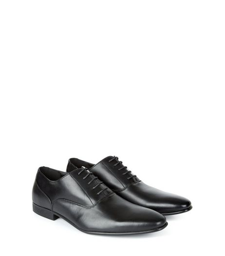 Black Lace Up Oxford Shoes | New Look