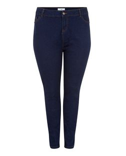 Plus Size Navy Skinny Jeans | New Look