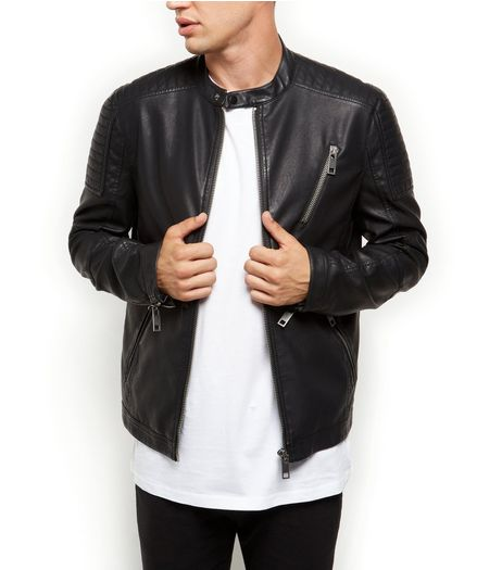 Black Zip Pocket Biker Jacket  | New Look