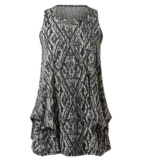 Apricot Black Tribal Print Longline Sleeveless Top  | New Look