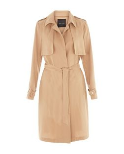Camel Drape Trench Coat  | New Look