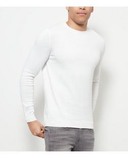 Cream Cotton Basic Crew Neck Jumper | New Look