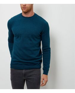 Mint Green Cotton Basic Crew Neck Jumper | New Look