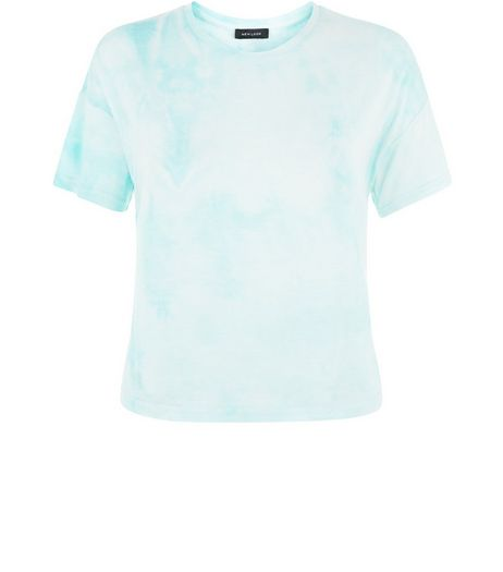 Mint Green Tie Dye T-Shirt | New Look