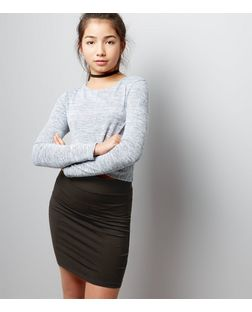 Teens Black Jersey Tube Skirt  | New Look