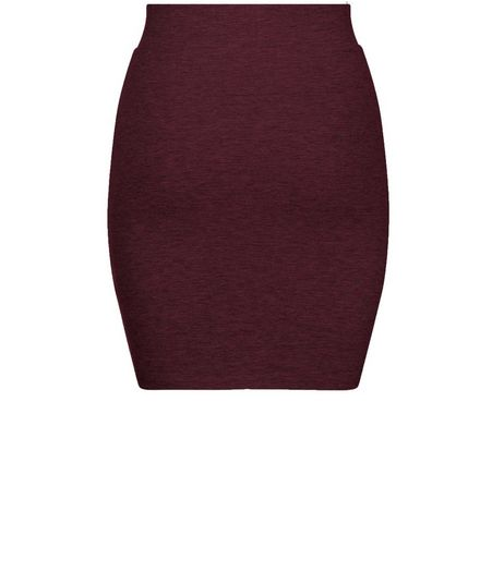 Teens Burgundy Jersey Tube Skirt  | New Look