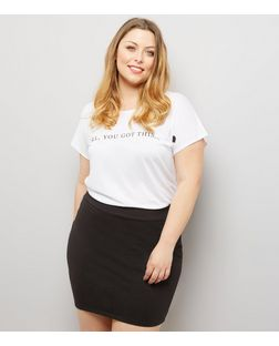 Curves Black Tube Skirt  | New Look