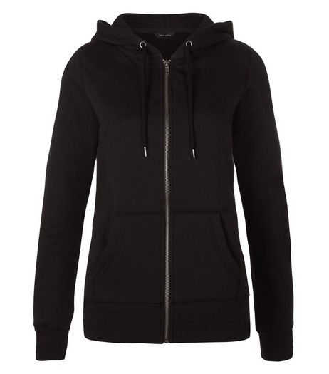 Black Basic Zip Up Hoodie | New Look
