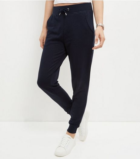 Navy Slim Leg Joggers  | New Look