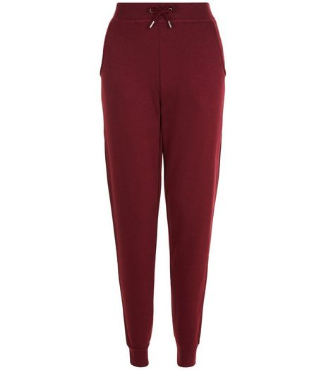 Burgundy Slim Leg Joggers  | New Look
