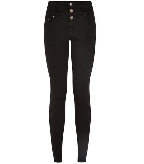 Petite 28in Black High Waisted Supersoft Super Skinny Jeans  | New Look