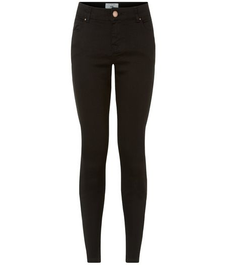Petite 26in Black Supersoft Super Skinny Jeans  | New Look