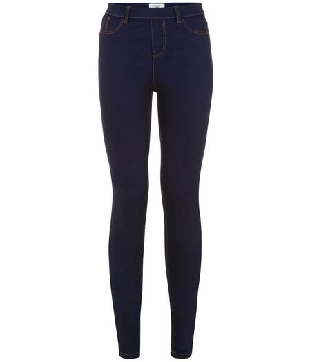 Tall 36in Navy Jeggings  | New Look