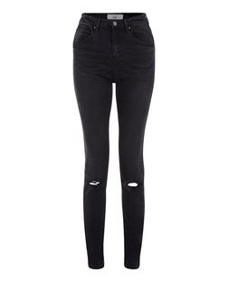 Tall 36in Black Ripped Knee Skinny Jeans  | New Look