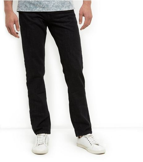 Black Straight Leg Jeans  | New Look