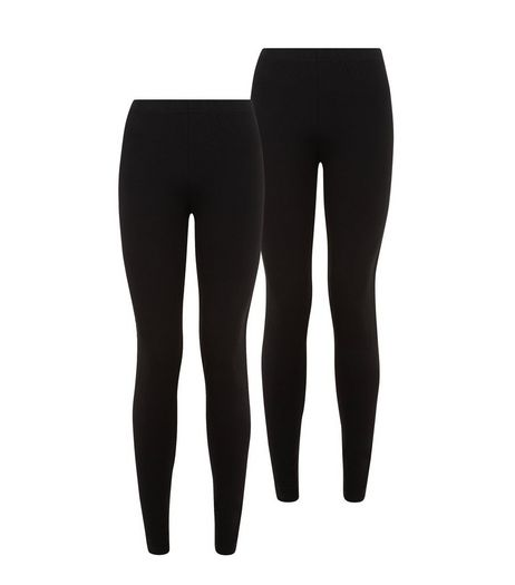 Petite 2 Pack Black Leggings  | New Look