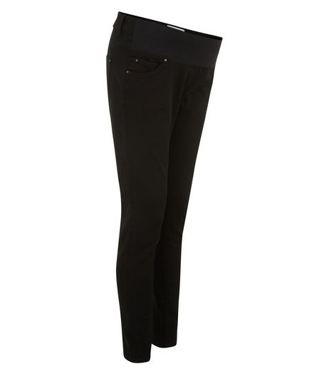 Maternity Black Under Bump Supersoft Super Skinny Jeans  | New Look
