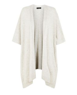 Grey Ribbed Blanket Cardigan | New Look