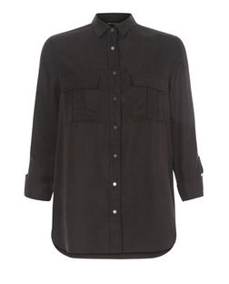 Black Utility Shirt  | New Look