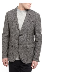 Black Textured Check Blazer  | New Look