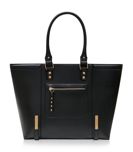 Black Structured Tote Bag  | New Look