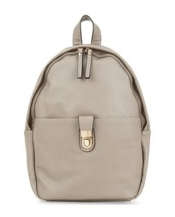 Mink Push Lock Backpack  | New Look