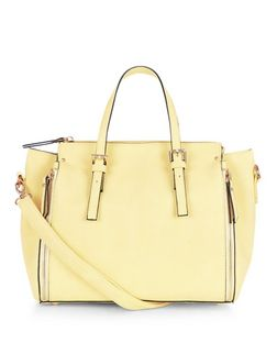 Yellow Zip Side Bowler Bag  | New Look