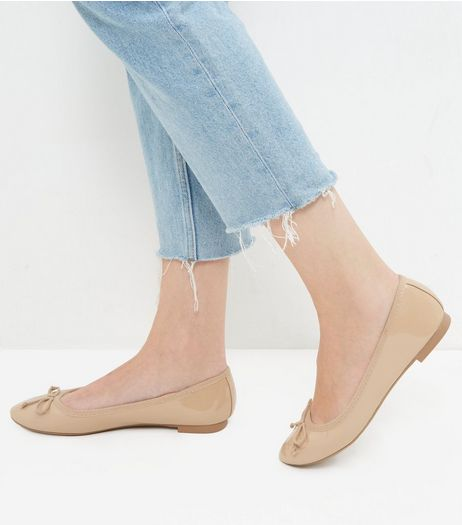 Mink Patent Ballet Pumps | New Look