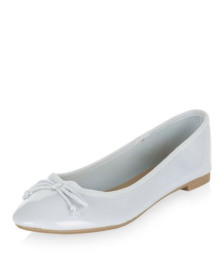 Pale Blue Patent Ballet Pumps | New Look