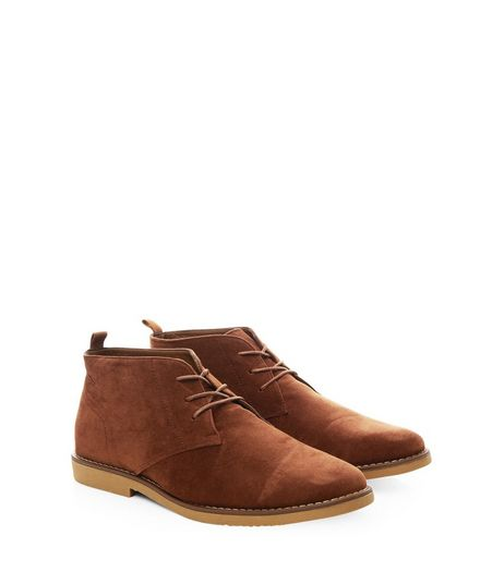 Rust Suedette Desert Boots  | New Look