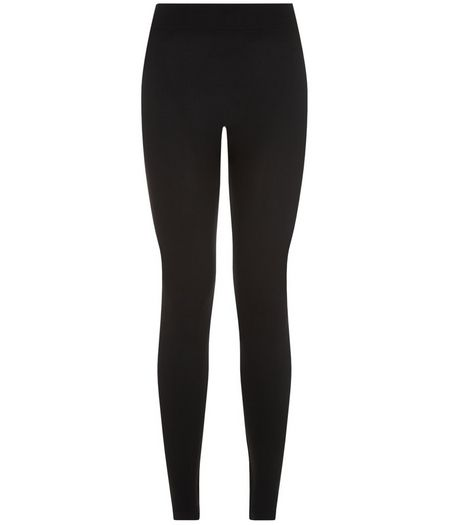 Petite Black Seamless Leggings  | New Look