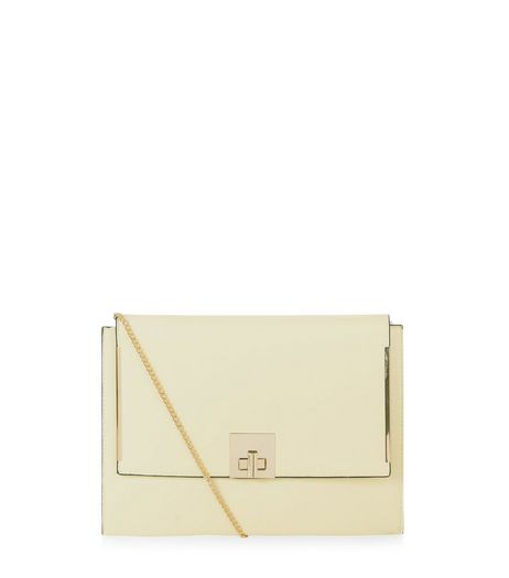 Stone Textured Front Panel Clutch Bag  | New Look
