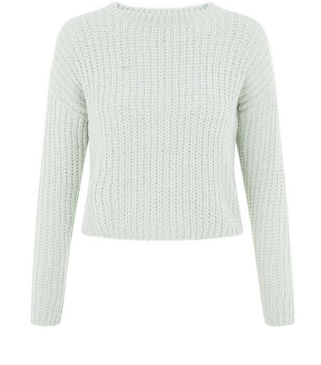 Teens Mint Green Crop Knit Jumper | New Look