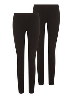 2 Pack Black Leggings  | New Look