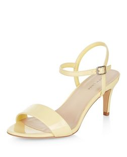 Yellow Mid Heel Sandals  | New Look