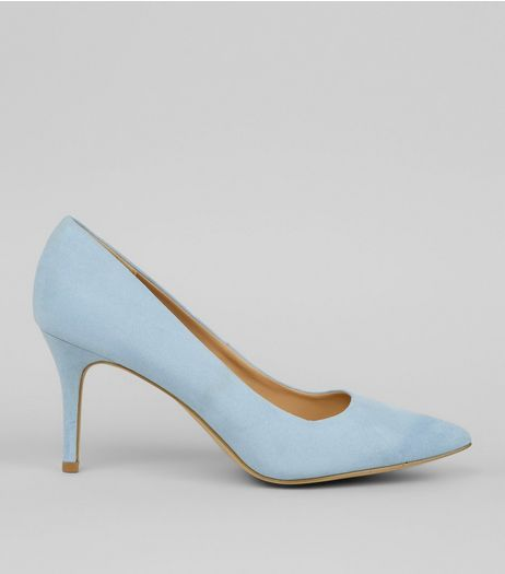 Blue Pointed Mid Heel Court Shoes | New Look