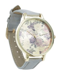 Grey Floral Dial Watch | New Look