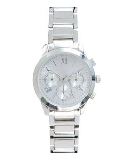 Silver Stripe Dial Sports Watch  | New Look