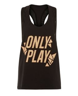 Only Black Only Play Sleeveless Vest | New Look