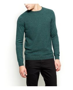 Green Crew Neck Jumper  | New Look